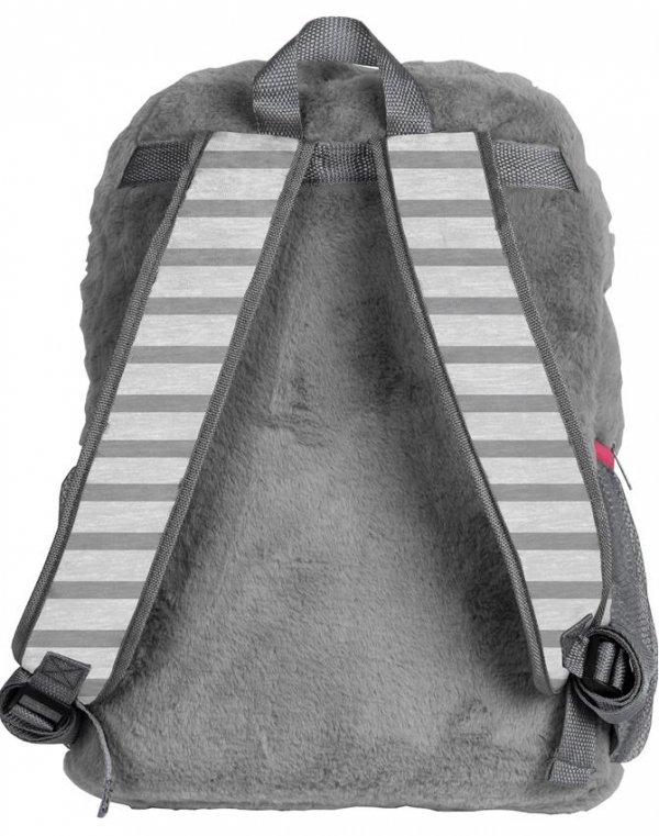 Plecak Pluszowy dla Dziewczyny Szkolny Szary [RHW-408]