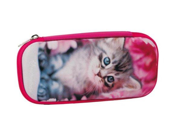 Piórnik Etui Szkolny z Kotkiem Kotem dla Dziewczyny