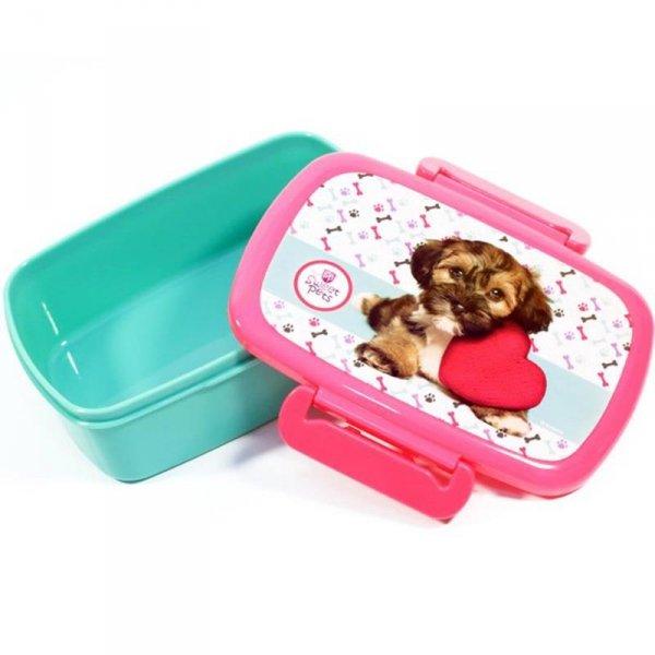 Śniadaniówka Bidon z Pieskiem dla Dziewczyny Komplet 2w1