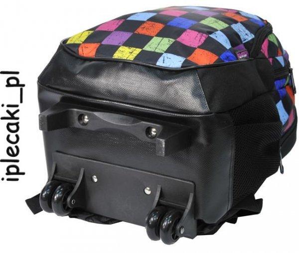 Trolley Plecak na kółkach Szkolny Paso Młodzieżowy Kratka [81-997DD]