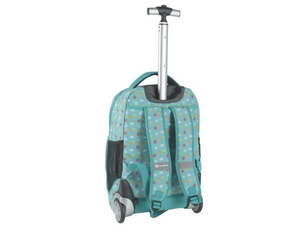 Plecak na Kółkach Młodzieżowy Kolorowe Kropeczki
