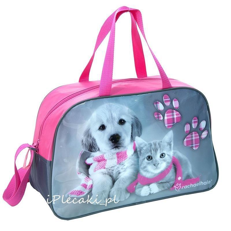 7d316abc0aefb torba dziecięca kot pies różowa szara na basen podróż wakacje