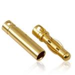 Gold Konektor banan 5,0 mm  - Para