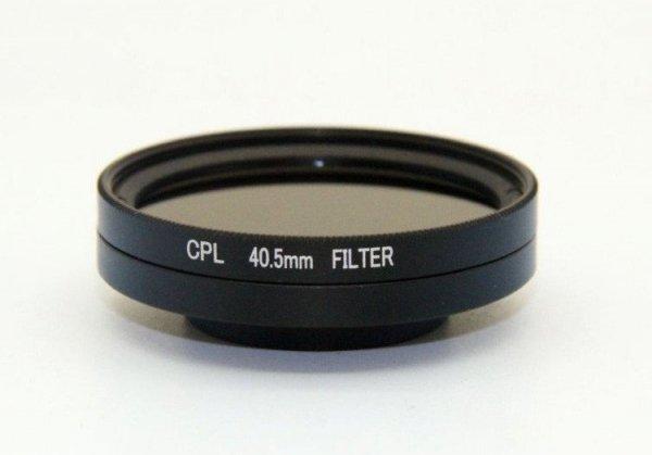 Filtr zintegrowany CPL 40,5mm + dekielek GoPro Her
