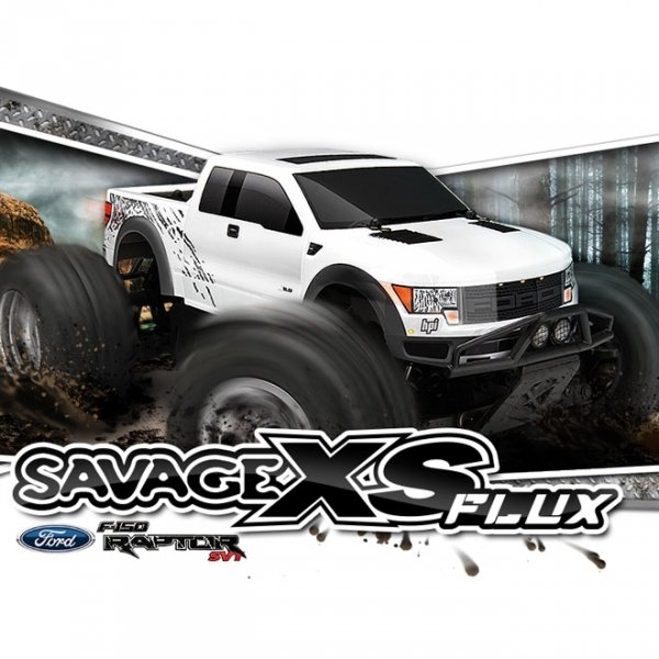 SAVAGE XS FLUX RTR WITH FORD F-150 SVT RAPTOR BODY