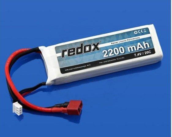 Akumulator Redox 7,4V 2200 mAh 20C LiPo