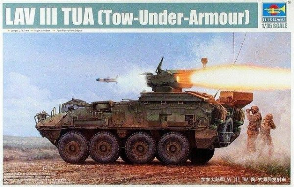 TRUMPETER 01558  LAV III TUA Tow-Under-Arm
