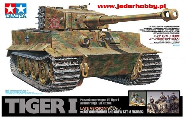 Tamiya 25109 Tiger W/ACE 8 FIG Tygrys