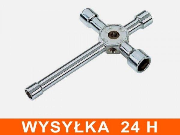 Klucz do świec i kół 8, 9, 10, 12mm