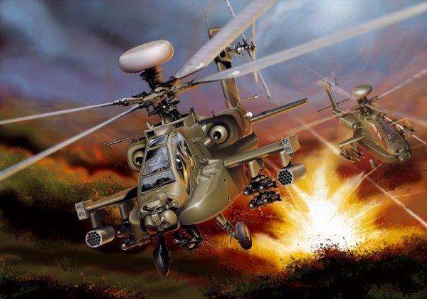 ITALERI 863 AH64D Apache Longbow 1/48