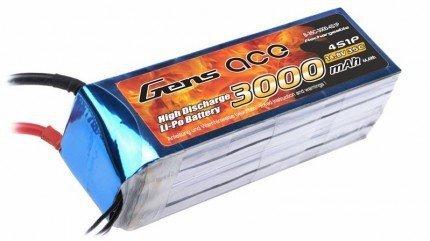 Gens Ace: 3000mAh 14.8V 35C Gens Ace Akumulator