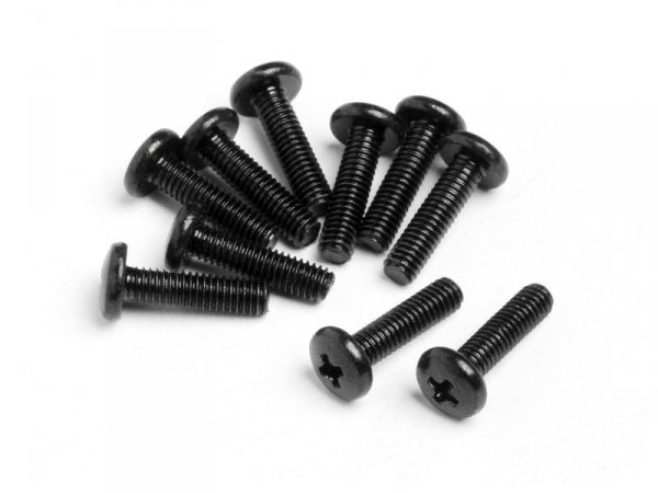 BINDER HEAD SCREW M2.6x10mm 10pcs Z432