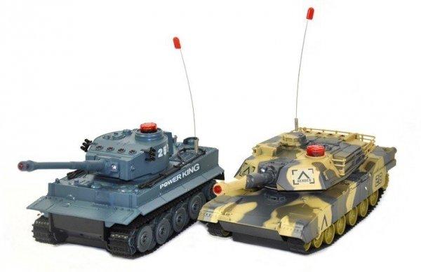 Zestaw wzajemnie walczących czołgów German Tiger i