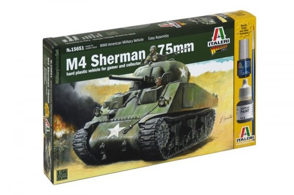 Italeri 15651 WWII M4 Sherman 1/56