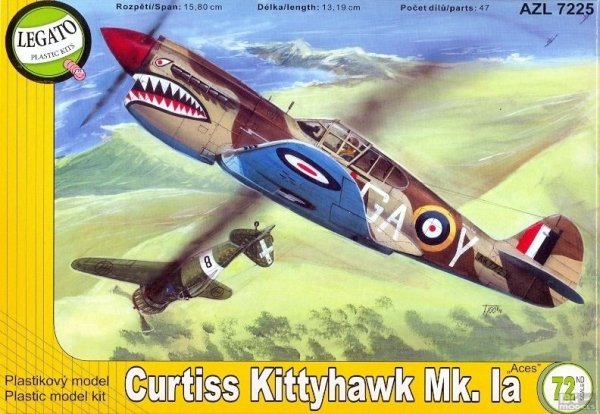 AZmodel/Legato AZL7225 1/72 Curtiss Kittyh