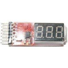 Tester z alarmem pakietów LIPo 1-8S