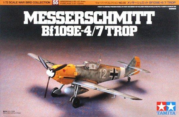 Tamiya 60755 MESSERSCHMITT Bf 109e-4/7 TROP 1/72