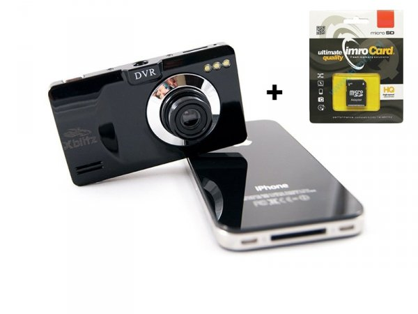 Rejestrator trasy Xblitz ACTIVE PLUS HD + Karta 16GB