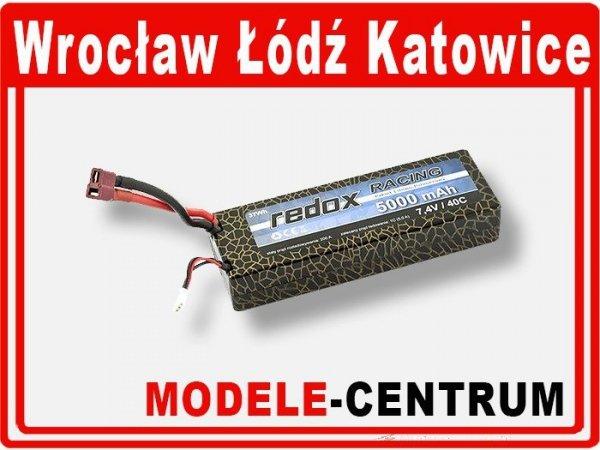Akumulator Redox RACING 5000 mAh 7.4V 40C - samochodowy pakiet LiPo