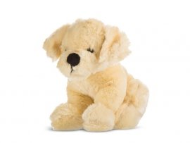 Pies Dżeki z dźwiękiem beżowy 23 cm