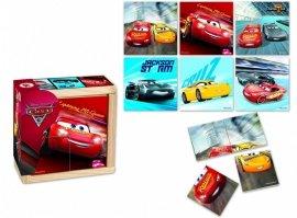 Drewniane puzzle do układania, Cars 3