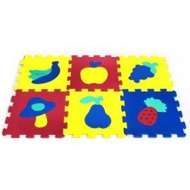 6 elementów, Puzzle piankowe Owoce
