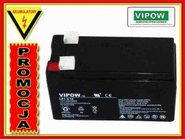 BAT0213 Akumulator żelowy VIPOW 12V 1.3Ah