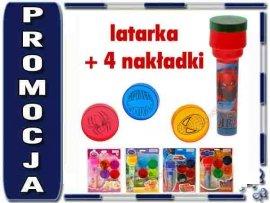 JKM ZA0405 Latarka Projektor DISNEY + Nakładki NEW