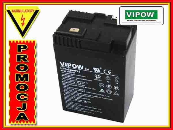 BAT0204 Akumulator żelowy VIPOW 6V 4Ah UNIWERSALNY