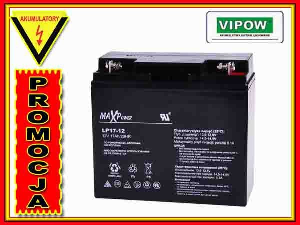 BAT0405 Akumulator żelowy 12V 17Ah MaxPower