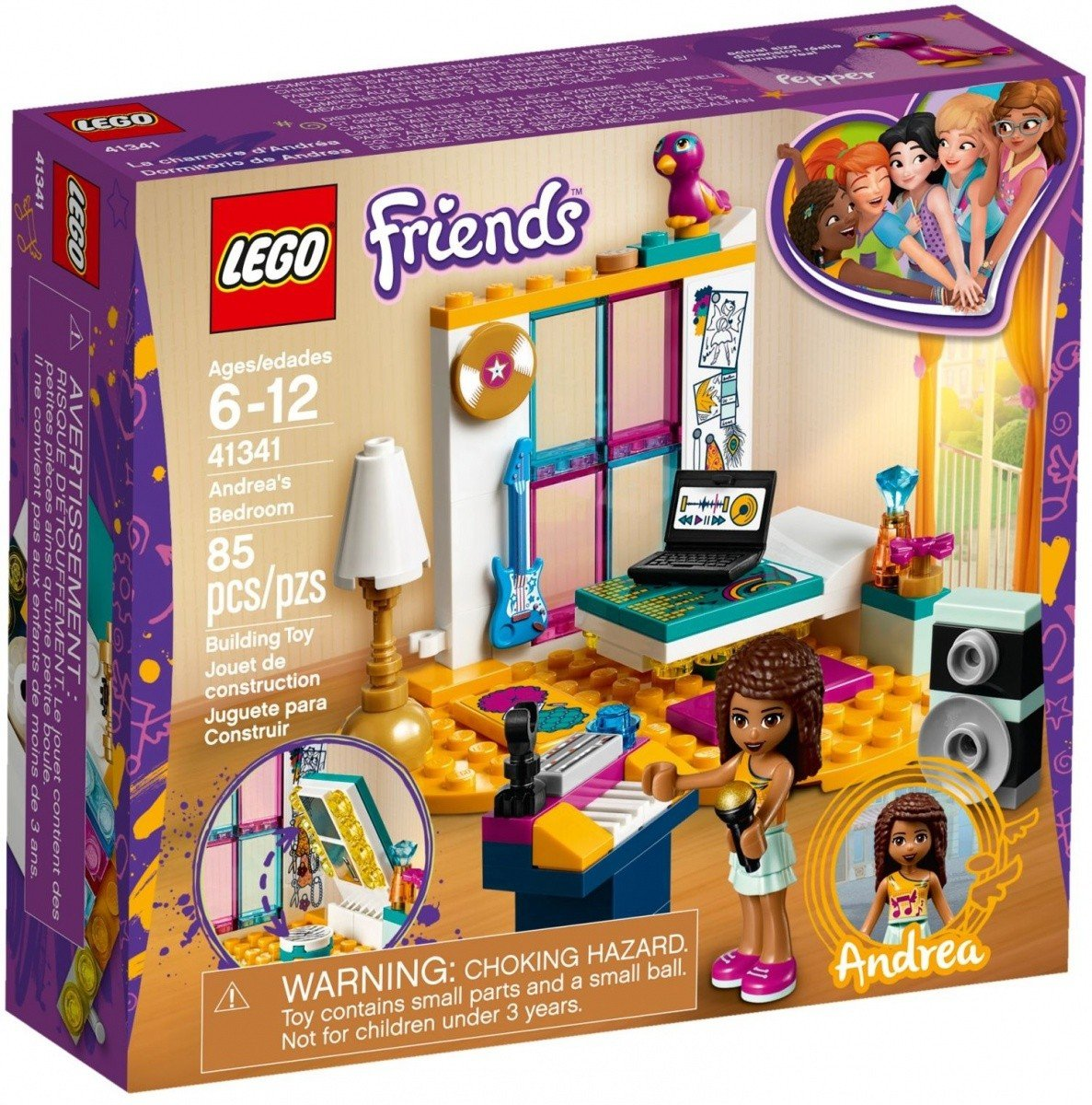 Lego Friends Sypialnia Andrei 41341 6 Friends Lego