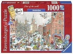 RAVENSBURGER 1000 EL. AMSTERDAM ZIMĄ PUZZLE 14+