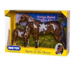 BREYER Koń champion Over Pinto MareFoal box