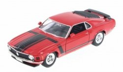 WELLY FORD MUSTANG BOSS 1970 CZERWONY SKALA 1:24