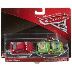 MATTEL AUTA CARS 3 SAMOCHODZIKI CHICK HICKS WITH HEADSET + NATALIE CERTAIN DXW07 3+