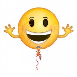 AMSCAN BALON FOLIOWY EMOTICON 99X58 CM 3+