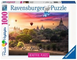 RAVENSBURGER 1000 EL. BALONY NAD MYANMAR PUZZLE 14+