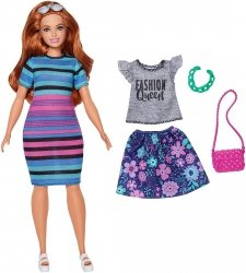 MATTEL LALKA BARBIE FASHIONISTAS HAPPY HUED FJF69 2+
