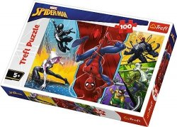TREFL 100 EL. SPIDER-MAN DO GÓRY NOGAMI PUZZLE 5+