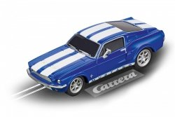 CARRERA AUTO GO FORD MUSTANG 67 RACING BLUE 6+