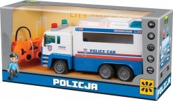 WELLY CIĘŻARÓWKA POLICYJNA NA RADIO Z ŁADOWARKĄ 3+