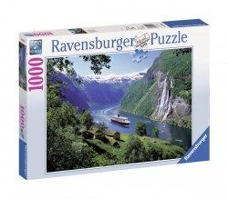 RAVENSBURGER 1000 EL. NORWESKIE FIORDY PUZZLE 12+