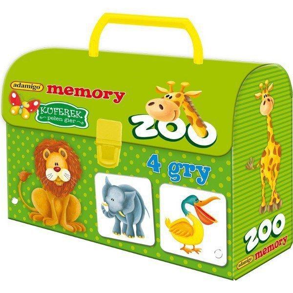 6bea9ce3f8a3c1 ADAMIGO GRA MEMORY PAMIĘĆ KUFEREK ZOO 3+ - Pamięciowe Memory - Gry ...