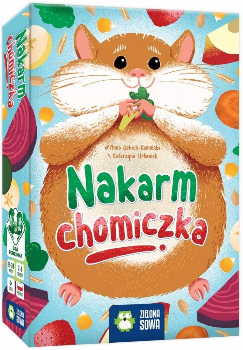 ZIELONA SOWA GRA NAKARM CHOMICZKA 4+