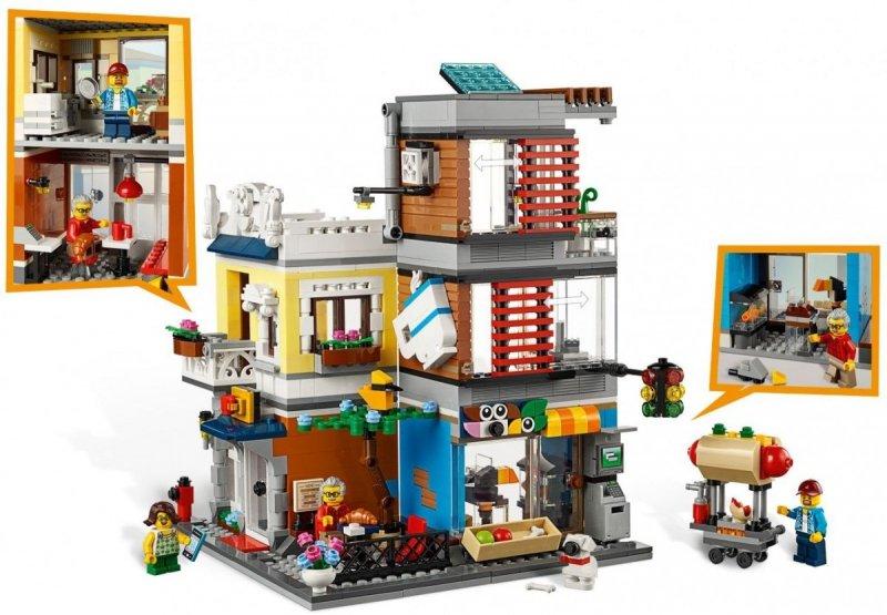 LEGO CREATOR SKLEP ZOOLOGICZNY I KAWIARENKA 31097 9+