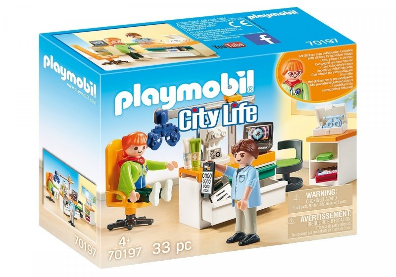 PLAYMOBIL CITY LIFE OKULISTA 70197 4+