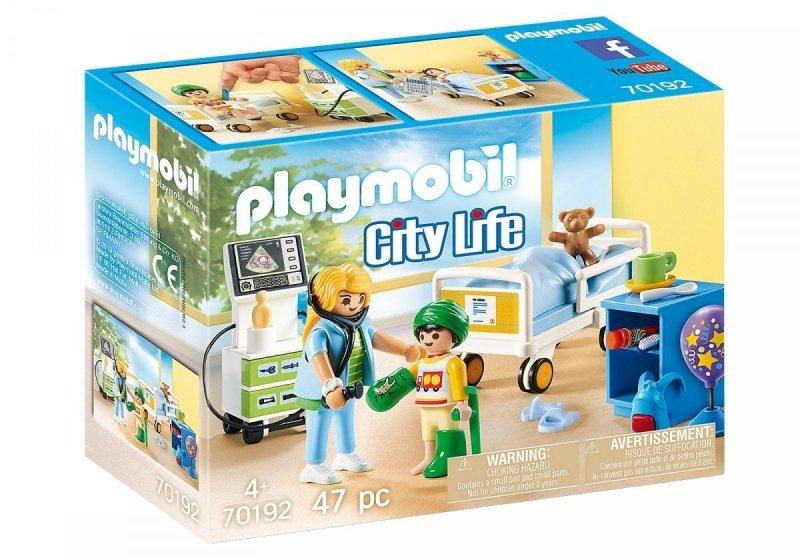 PLAYMOBIL CITY LIFE SZPITALNY POKÓJ DZIECIĘCY 70192 4+