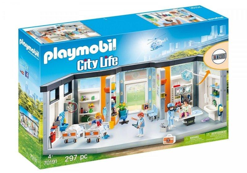 PLAYMOBIL CITY LIFE SZPITAL Z WYPOSAŻENIEM 70191 4+