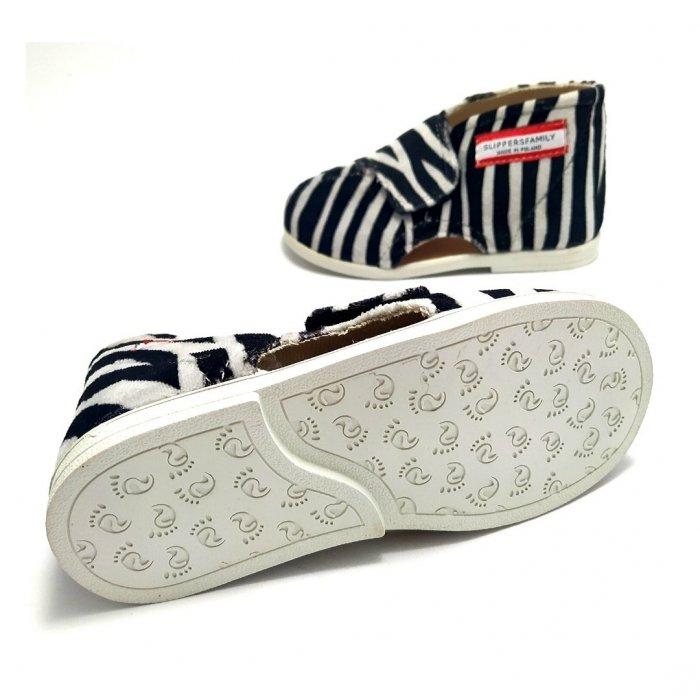 kapcie-dla-dzieci-slippers-family-zebra