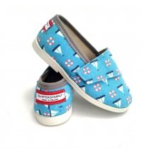 Buty dla dzieci na rzep print LOWERKI Sailor